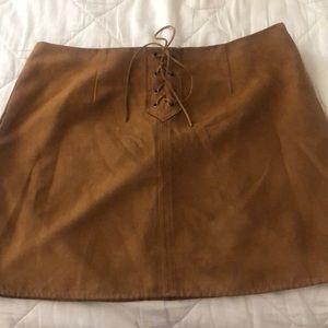 Suede Carmel skirt